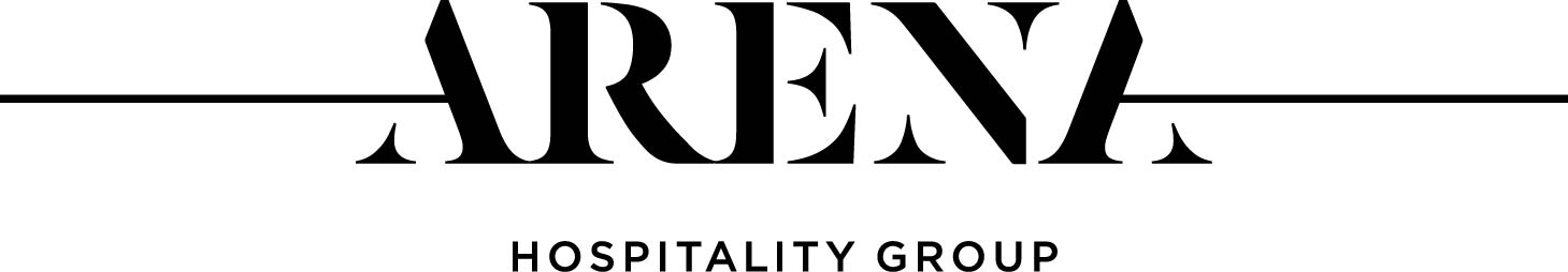 Arena hospitality logo black truncated